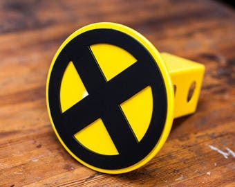 X-Men Trailer Hitch Cover- Yellow and Black