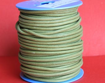 MADE in EUROPE 2 yards of suede cord, 3mm round suede cord (3crovca)