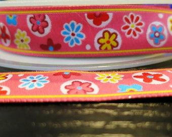 Lace, Pink Ribbon flower fantasy