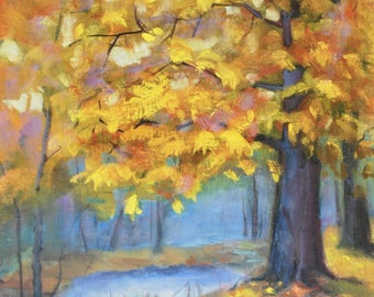 Landscape painting, Oil Painting, Original paintings, Original painting, Oil paintings, Autumn, Fall, Oil on canvas, wall art, Sue Whitney