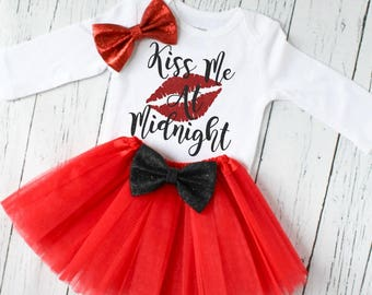 kiss me at midnight outfit - New Years eve outfit - baby girl clothes - baby girl outfits New Years eve - nye 2018 outfit - NYE5