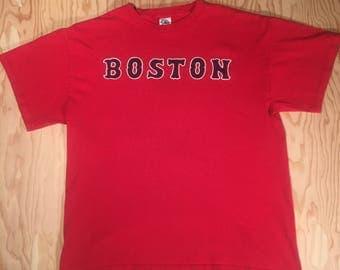Boston Red Sox Tourist Shirt | Vintage Baseball Tee | T-shirt T | Men's L