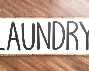 Laundry Sign // Laundry Room Sign // Rustic Laundry Sign // Wood Sign // Farmhouse Laundry Sign // Farmhouse Decor // Farmhouse