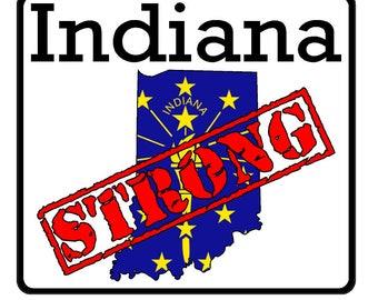 Indiana State (K15) Strong Flag Vinyl Decal Sticker Car/Truck Laptop/Netbook Window