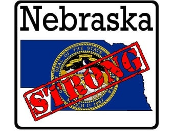 Nebraska State (K28) Strong Flag Vinyl Decal Sticker Car/Truck Laptop/Netbook Window