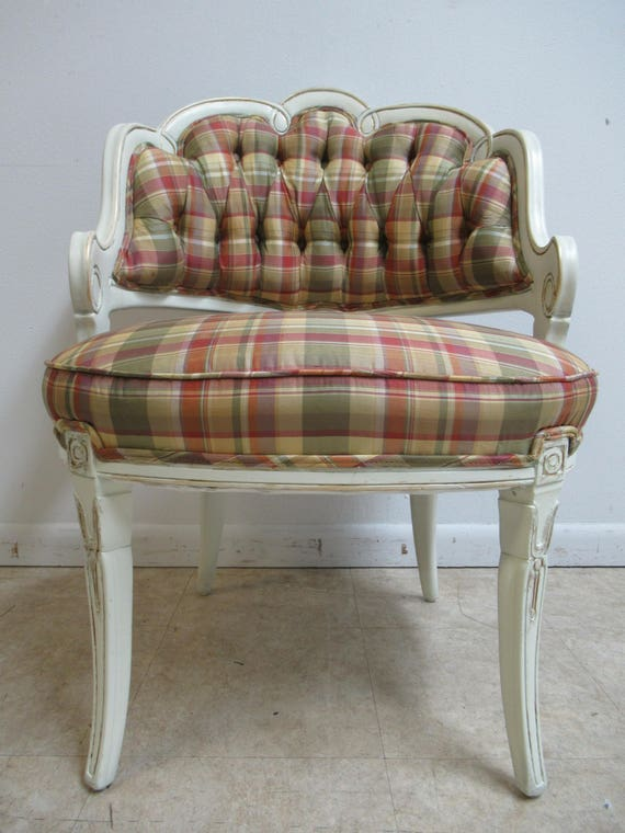 Vintage French Carved Living Room Lounge Chair  B