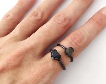 Raw Sapphire Ring, Raw September Birthstone Ring, Raw Birthstone Ring, Raw Birthstone Jewelry, Raw Sapphire Jewelry, Raw Sapphire