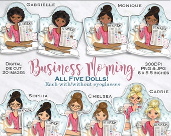 Boss lady clipart Girl boss doll clipart glam clipart fashion graphics planner graphics African American clipart dashboard PrintableHenry