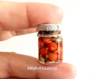 Miniature tomatoes. Hand made