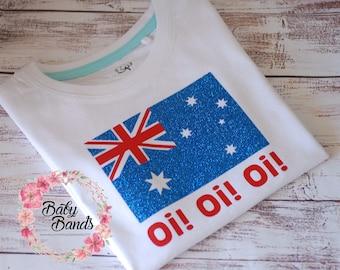 Australian flag top/romper