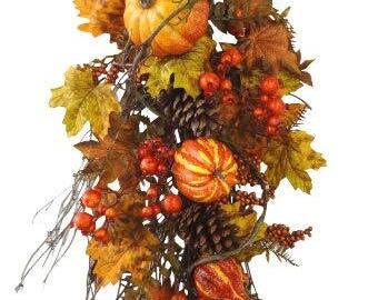 "32"" Fall Pumpkin Teardrop"