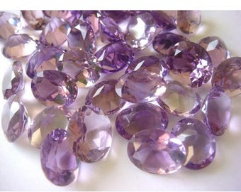 ON SALE 50% Wholesale Amethyst Lot - Amethyst Oval Cut Stones - 70 CTW - 21 Pieces Approx - 12x10mm To 11x9mm Each