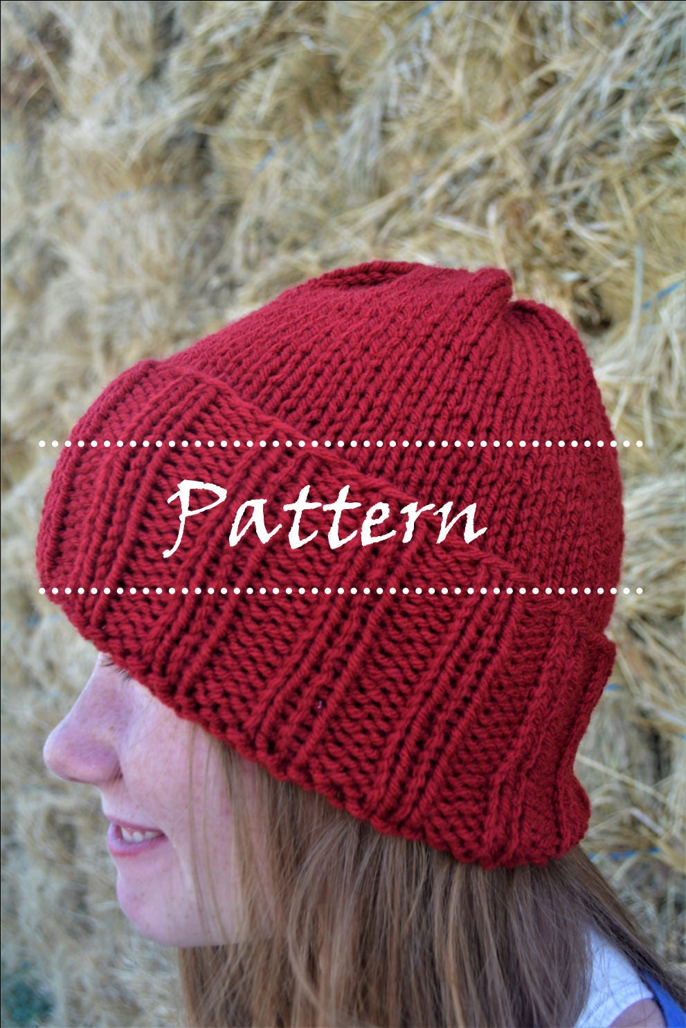 Afton Hat Pattern knit hat pattern knitted hats beginner