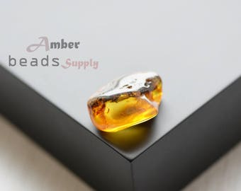 Amber stone 1 piece. Baltic amber stone for jewelry. Polished amber. 2520/38