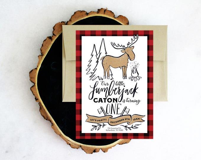 PRINTABLE Birthday Party Invitation | Little Lumberjack