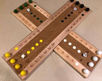 Handcrafted Two Piece Aggravation Game Board.
