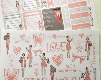 SALE | 75% OFF | Pink Beauties Planner Layout Stickers