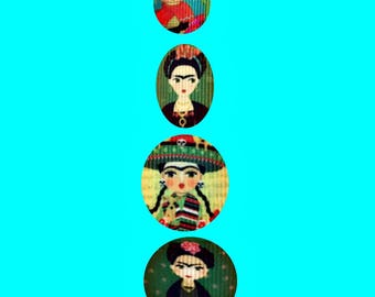 Lanyard - Frida Kahlo- Cute Cartoons  - Teacher- Student - Artist Lanyard- Art Teacher - Artist - Frida Kahlo clothing