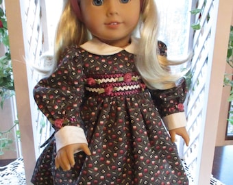 """Machine Smocked Doll Dress to fit your 18"""" American Girl Doll"""