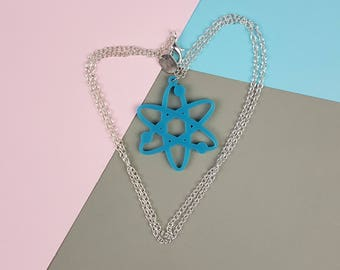 Blue Atom Science Necklace