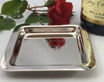 Personalised coin tray