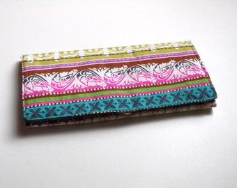 Multicolored Trifold Wallet