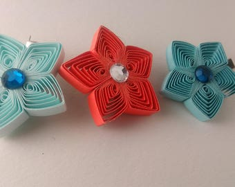 Star Paper quilling Hair clips