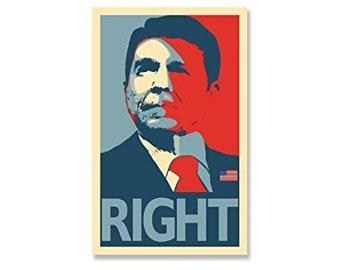 Ronald Reagan Face RIGHT Sticker