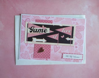 Game of Love Valentines Card FREE SHIPPING