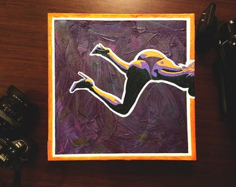 """""""Out of Frame"""" Erotic Pop Art Painting [Acrylic on Canvas, 12x12""""]"""