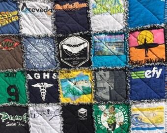 Tshirt rag quilt | Etsy : tshirt rag quilt - Adamdwight.com
