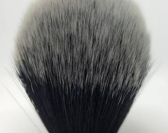 24mm Black and white synthetic shave knot