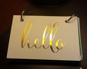 Hello Journal Hello Notebook, Smash Journal, Scrapbook, Instax Album, Photo Album, Junk Journal with Notebook Rings