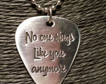 No one sings like you anymore Soundgarden Chris Cornell silver or bronze pendant