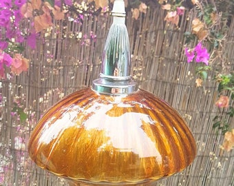 Amber glass ceiling lamp / amblar glass ceiling lamp