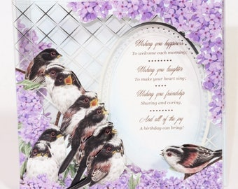Acetate Birthday Card with Birds