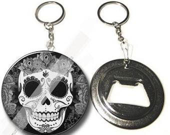 Keychain bottle opener / skull skull