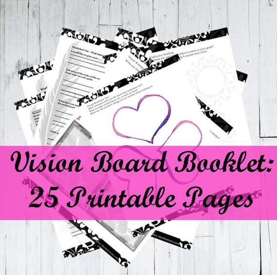2018 Goal Planner Year Planner Vision Board Cute Planner