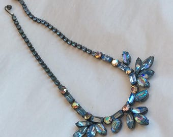 Lovely Regency necklace - light sapphire with ab accents