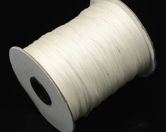 White 1.5 mm waxed polyester cord