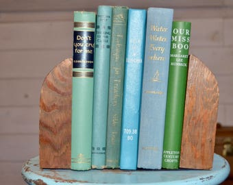 Pair of Wooden Bookends, MCM Bookends