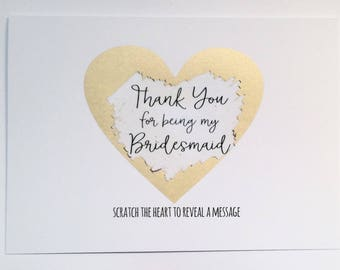 Thank you for being my Bridesmaid - Scratch to reveal