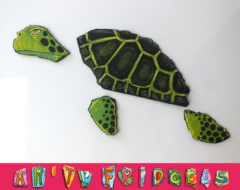 Seaturtle - handpainted magnets