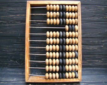 Large Wooden Abacus Vintage Abacus Office Decor Wood Calculator Soviet Abacus Retro Gift USSR Abacus Back to school Gift for coworker