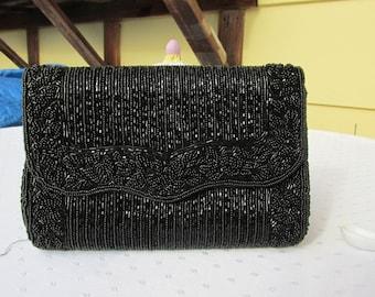 LaRegale Beautiful Vintage Beaded Clutch/strap Bag