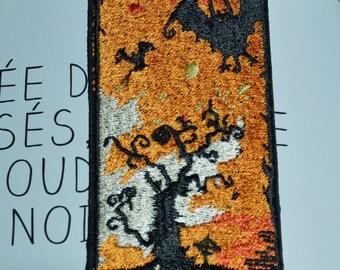 halloween embroidered bookmark
