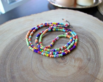 Beaded Necklace / Men's Long Necklace / Men's Beaded Necklace