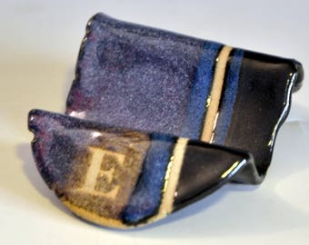 Business-card holder - E - purple and black