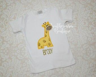 Giraffe Shirt, Personalized Giraffe Shirt, Zoo Shirt, Field Trip Zoo, Shirt for boy, Animal Birthday Shirt, Zoo Birthday Shirt, Animal shirt