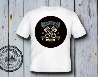 Cafe Racer T Shirt, Mens, Motorbike, Biker, Retro, Classic, Gift, Classic, 14
